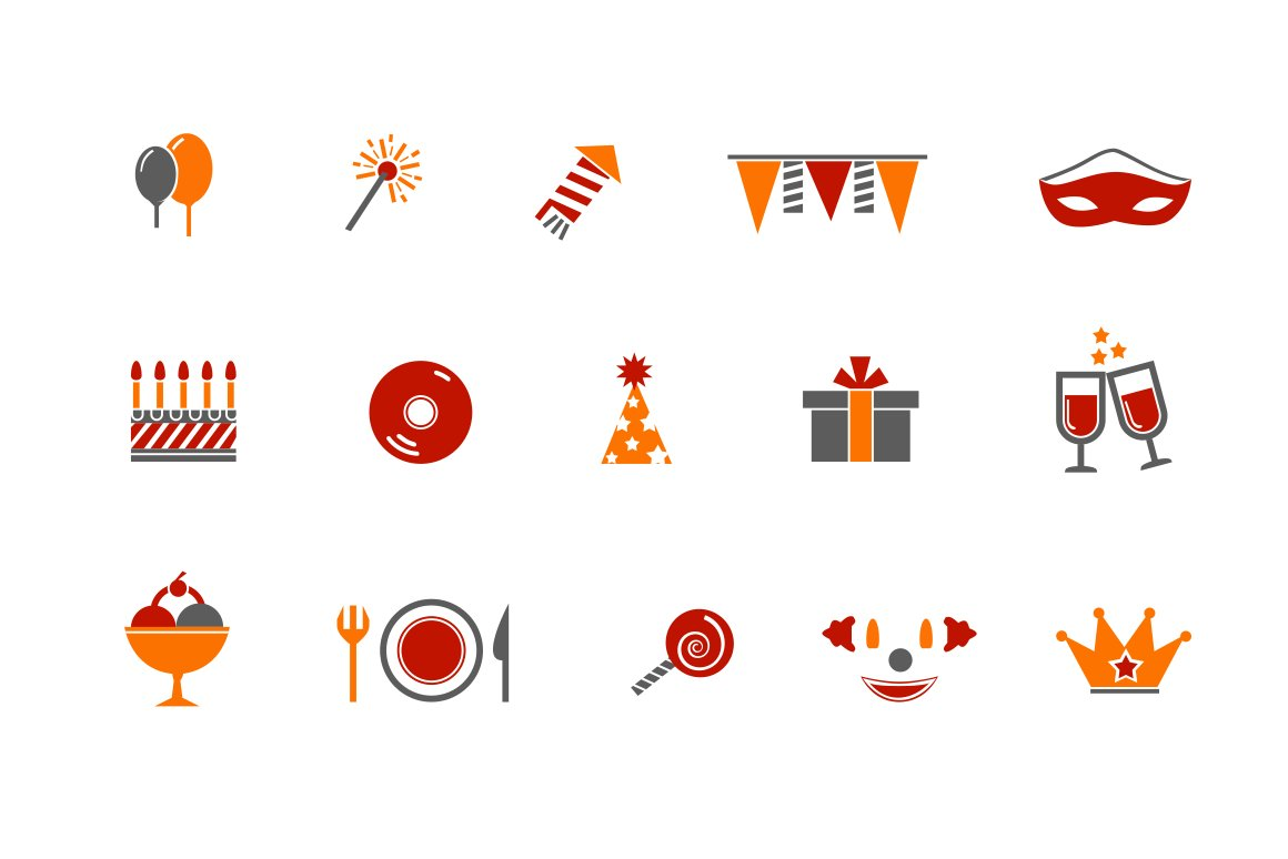 12 Party and Celebration Icons ~ Icons ~ Creative Market