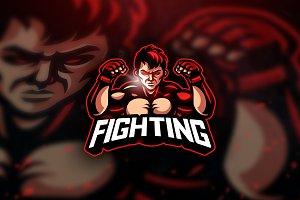 Fighting - Mascot & Esport Logo
