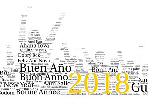 Words cloud concept of New Year in a