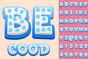 Сhildren's Vector alphabet with bulb