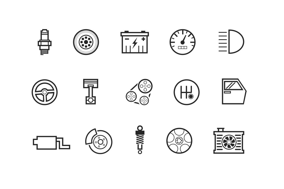 15 Automobile And Car Icons Icons Creative Market