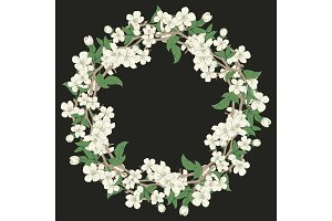 Cherry blossom round pattern