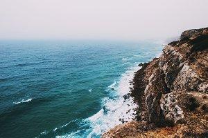 Atlantic ocean rocky shore