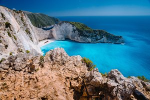 Rock Cliffs in front of Navagio