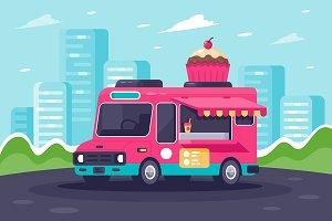 Van with sweets