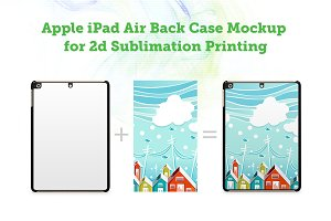 iPad Air 2d Sublimation Mock-up