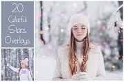 20 Christmas Stars Overlays