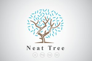 Neat and Rounded Tree Logo Template