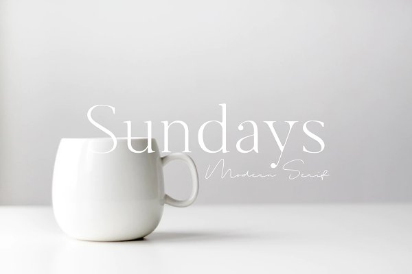 Serif Fonts: New Tropical Design - Sundays -  Modern Serif Font