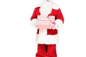 emotional santa claus holding gift b
