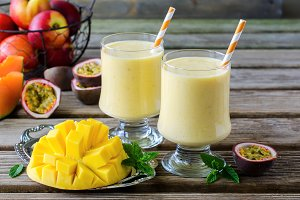 Tropical mango drink