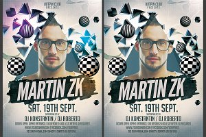 Minimal Dj Party Flyer Template