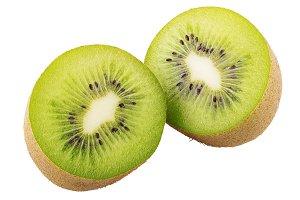 Ripe whole kiwi fruit isolated on wh