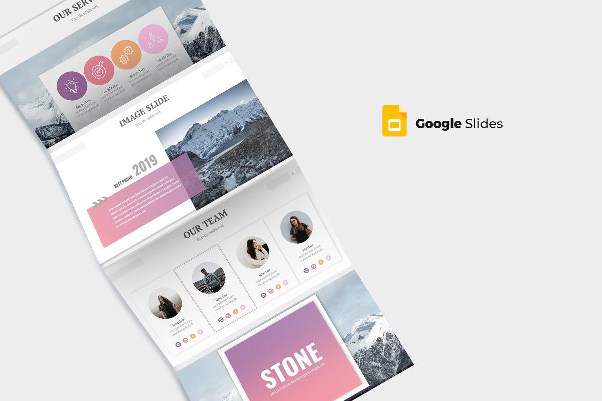 Stone - Google Slides Template ~ Google Slides Templates ~ Creative