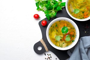 Vegetable Soup with Carrot, Bell Pep