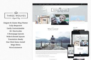 Three Wolves - Wordpress Blog Theme