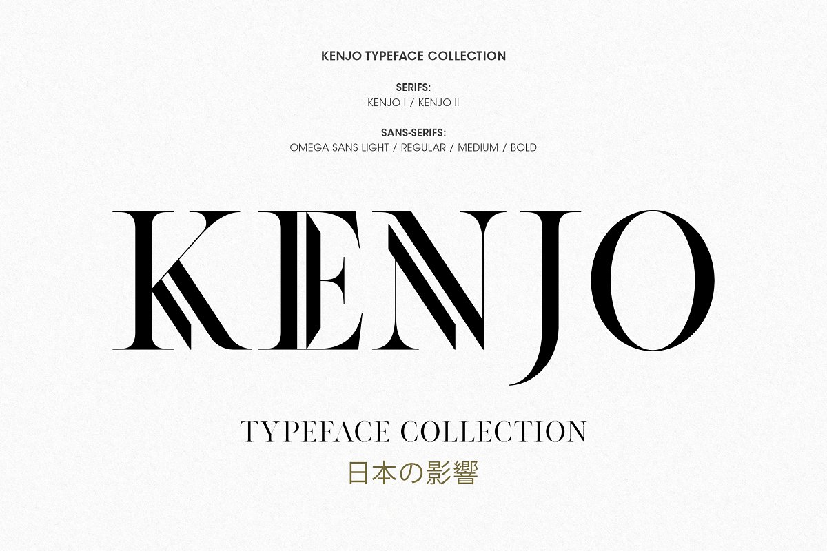 f66d0e9b1bc Kenjo Font Duo + Free Sans ~ Display Fonts ~ Creative Market