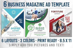 6 Business Magazine Flyer Template