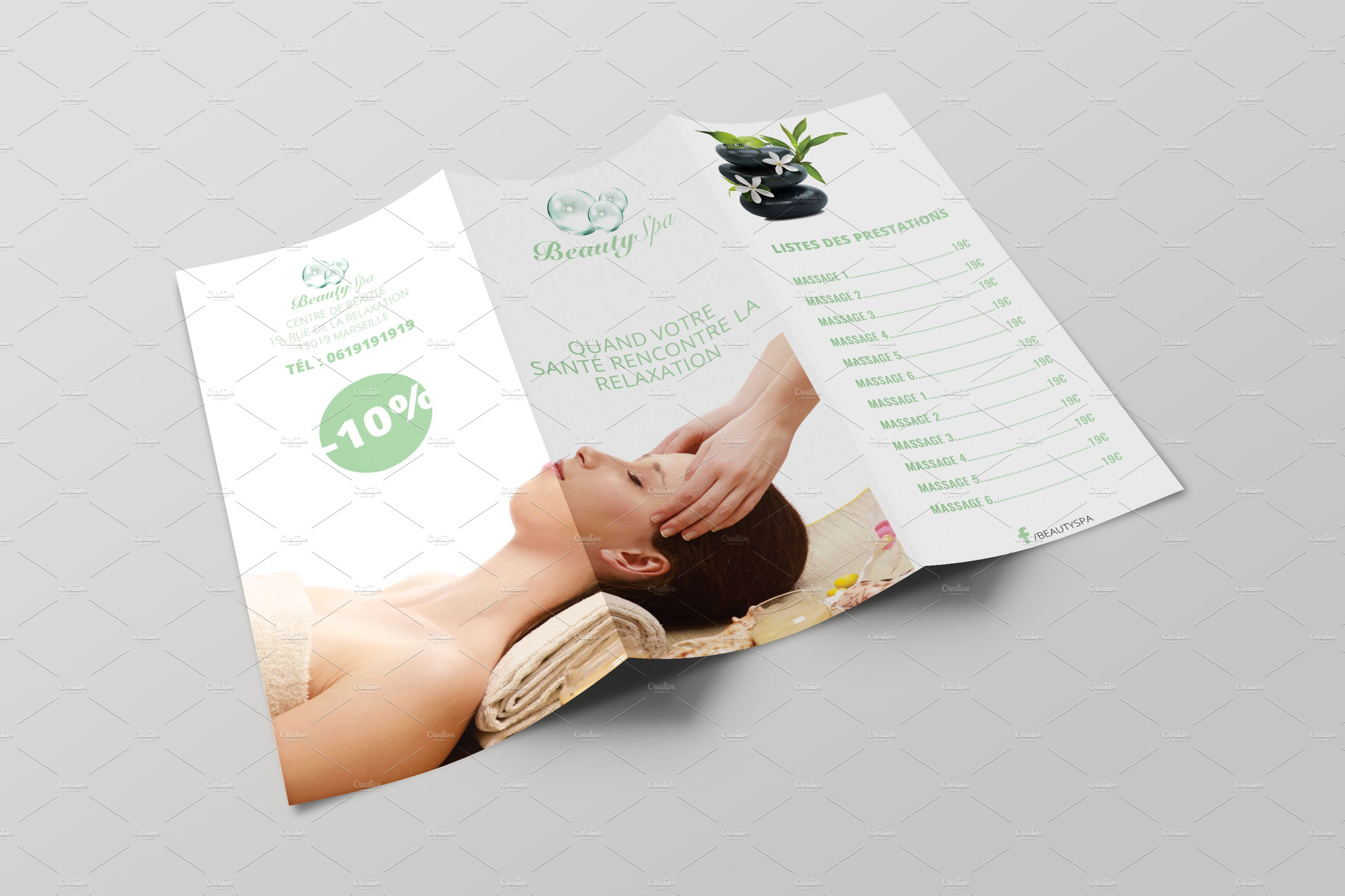 Spa Brochure Brochure Templates Creative Market - Spa brochure templates