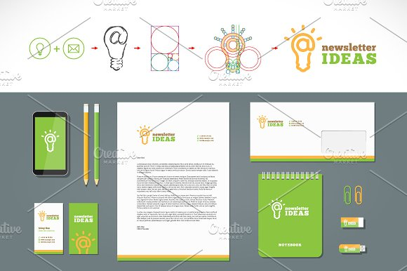 Newsletter Ideas Logo and Stationery ~ Logo Templates ~ Creative Market