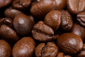 full frame of roasted coffee beans b