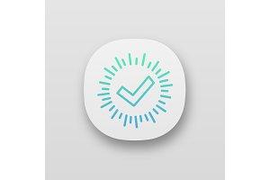Checkmark app icon