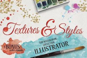 Watercolor Textures & Styles