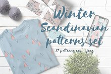 Winter Scandinavian patterns set