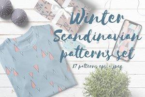 Winter Scandinavian patterns set
