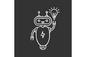 New idea chatbot chalk icon