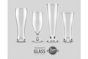 Glass for beer drinking in pub