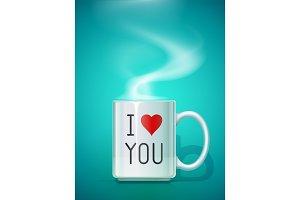 Ceramic mug for tea. Vector