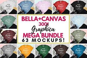 Bella Canvas 3001 Graphic Mockups
