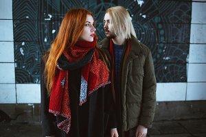 Winter holiday, dating, urban