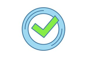 Checkmark color icon
