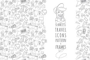 Outline seamless travel pattern