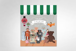 toy store vector/illustration