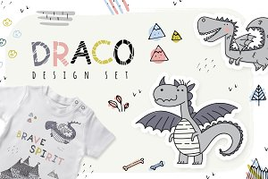 DRACO. Design set. + draco font!