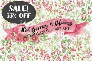 SALE - 33% off: Red berries bundle