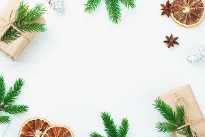 Christmas composition. Christmas gif