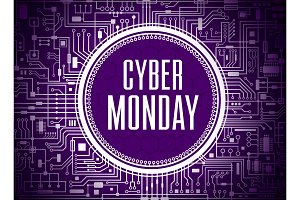 Cyber monday vector banner