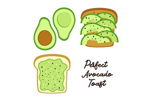 Perfect Avocado Toast as bread with
