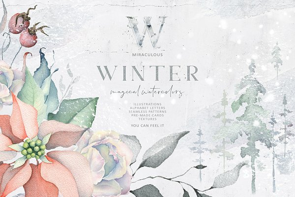 Winter Watercolors&Alphabets