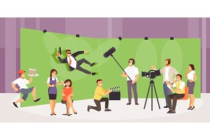 Film crew vector