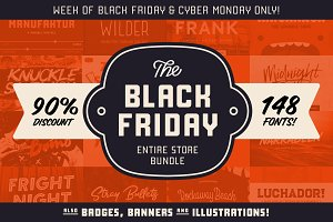Black Friday Bundle - 148 fonts!