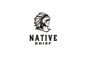 American Native / Indian Chief Logo