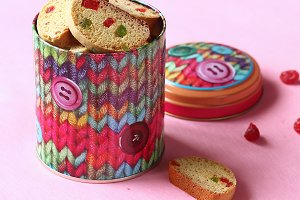 Biscotti with Candied Fruits