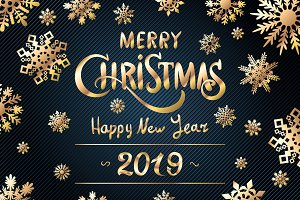 Happy New Year 2019 merry christmas