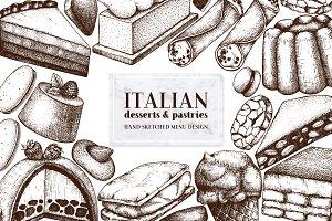 Italian Desserts & Pastries Set