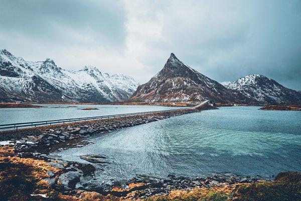 Stock Photos: f9photos - Fredvang Bridges. Lofoten islands
